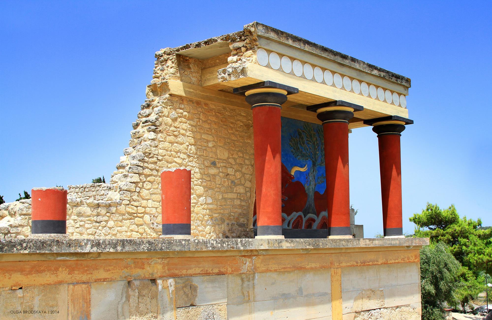 Кносс - главный город во времена минойской цивилизации