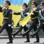 Как проходил военный парад на Украине