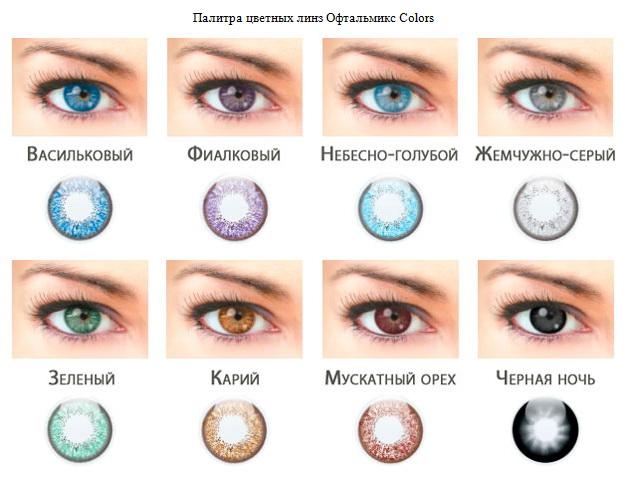 цветные линзы контактные фото